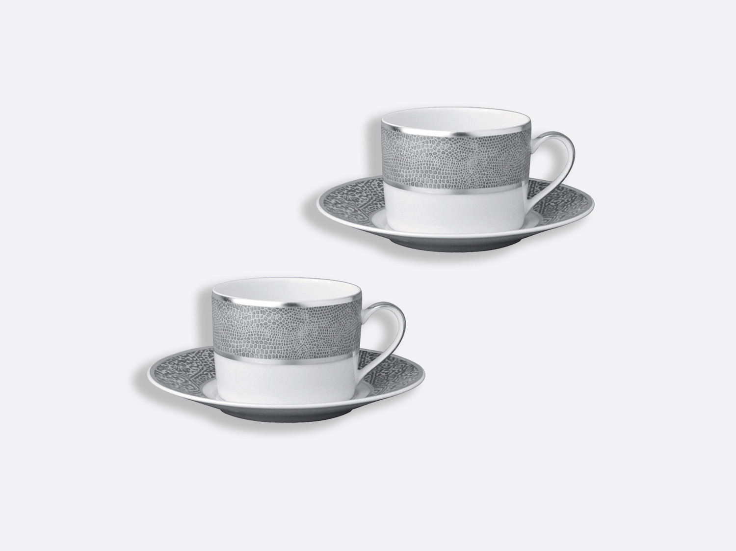 China Tea cup and saucer gift box - 20 cl - Set of 2 of the collection Sauvage | Bernardaud