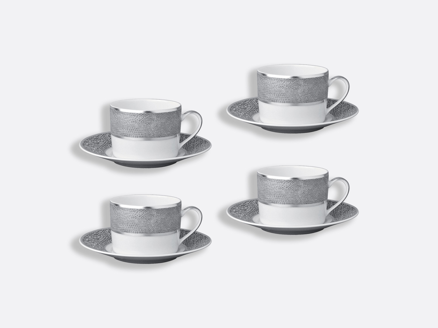 China Tea cup and saucer gift box - 20 cl - Set of 4 of the collection Sauvage | Bernardaud