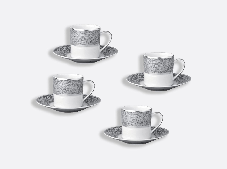 Coffret de tasses & soucoupes café 8 cl - Coffret de 4 en porcelaine de la collection Sauvage Bernardaud