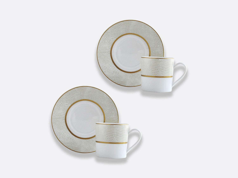 Coffret de tasses & soucoupes café 8 cl - Coffret de 2 en porcelaine de la collection Sauvage or Bernardaud