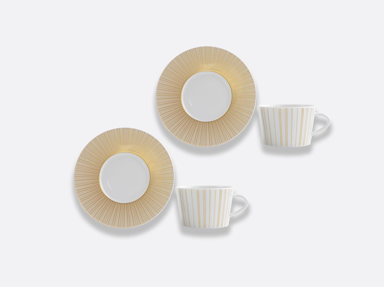 Coffret de tasses & soucoupes thé 20 cl - Coffret de 2 en porcelaine de la collection Sol Bernardaud