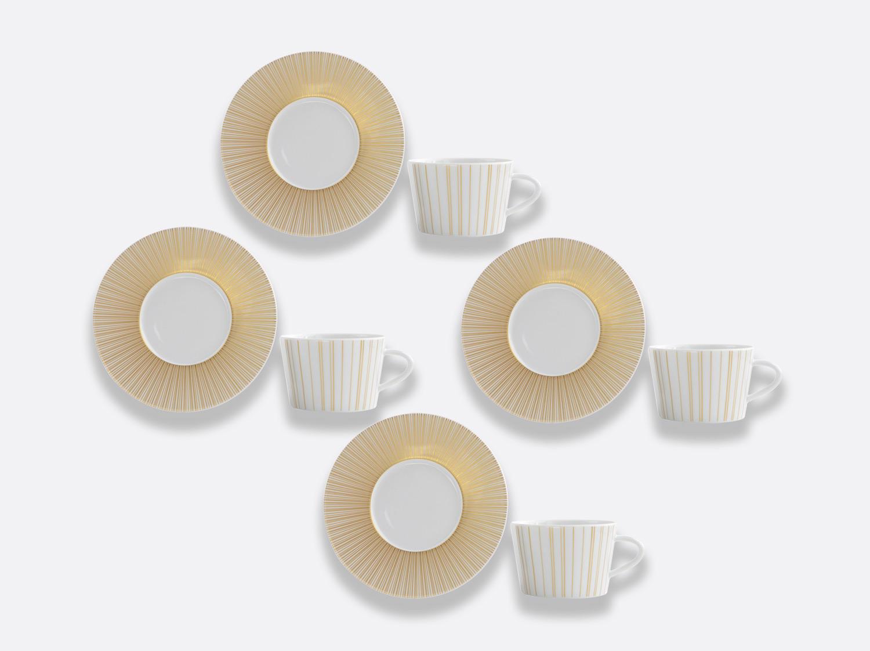 Coffret de tasses & soucoupes thé 20 cl - Coffret de 4 en porcelaine de la collection Sol Bernardaud