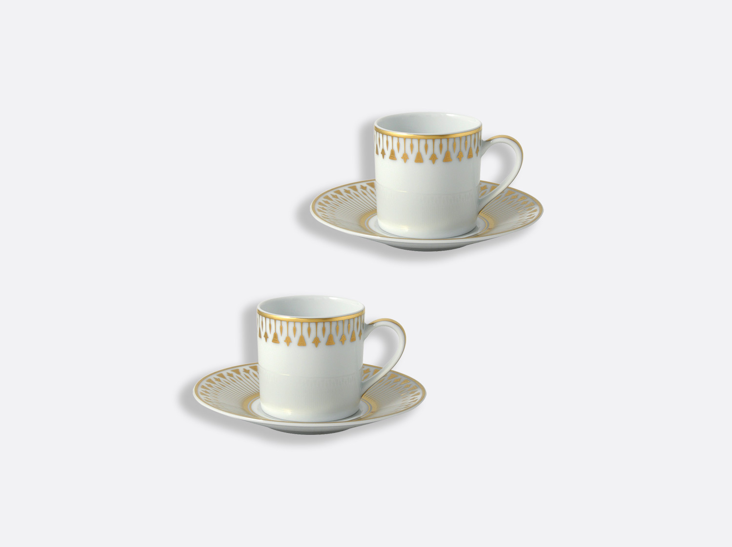China Espresso cup and saucer gift box - 8 cl - Set of 2 of the collection Soleil levant | Bernardaud