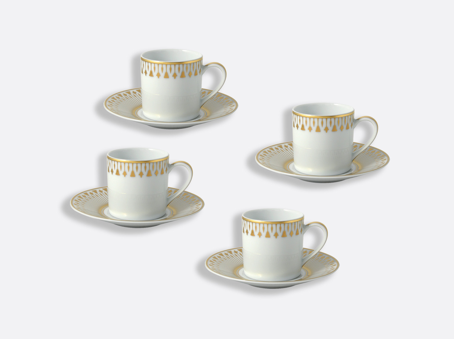 China Espresso cup and saucer gift box - 8 cl - Set of 4 of the collection Soleil levant | Bernardaud