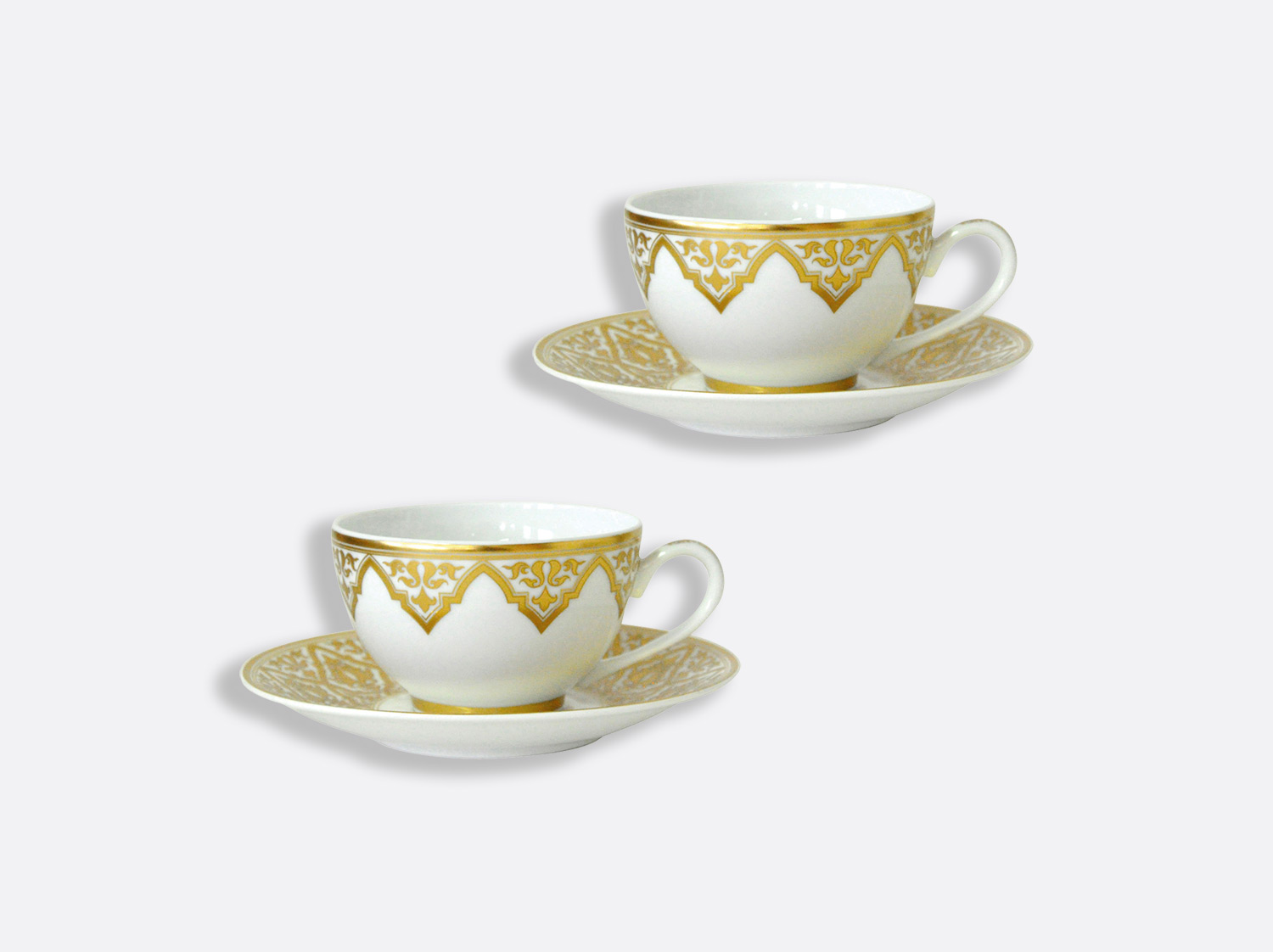 Coffret de tasses & soucoupes thé 13 cl - Coffret de 2 en porcelaine de la collection Venise Bernardaud