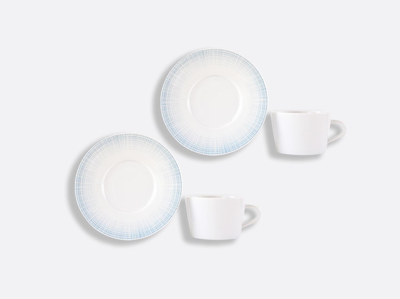 Coffret de tasses & soucoupes thé 17 cl - Coffret de 2 en porcelaine de la collection Saphir Bleu Bernardaud