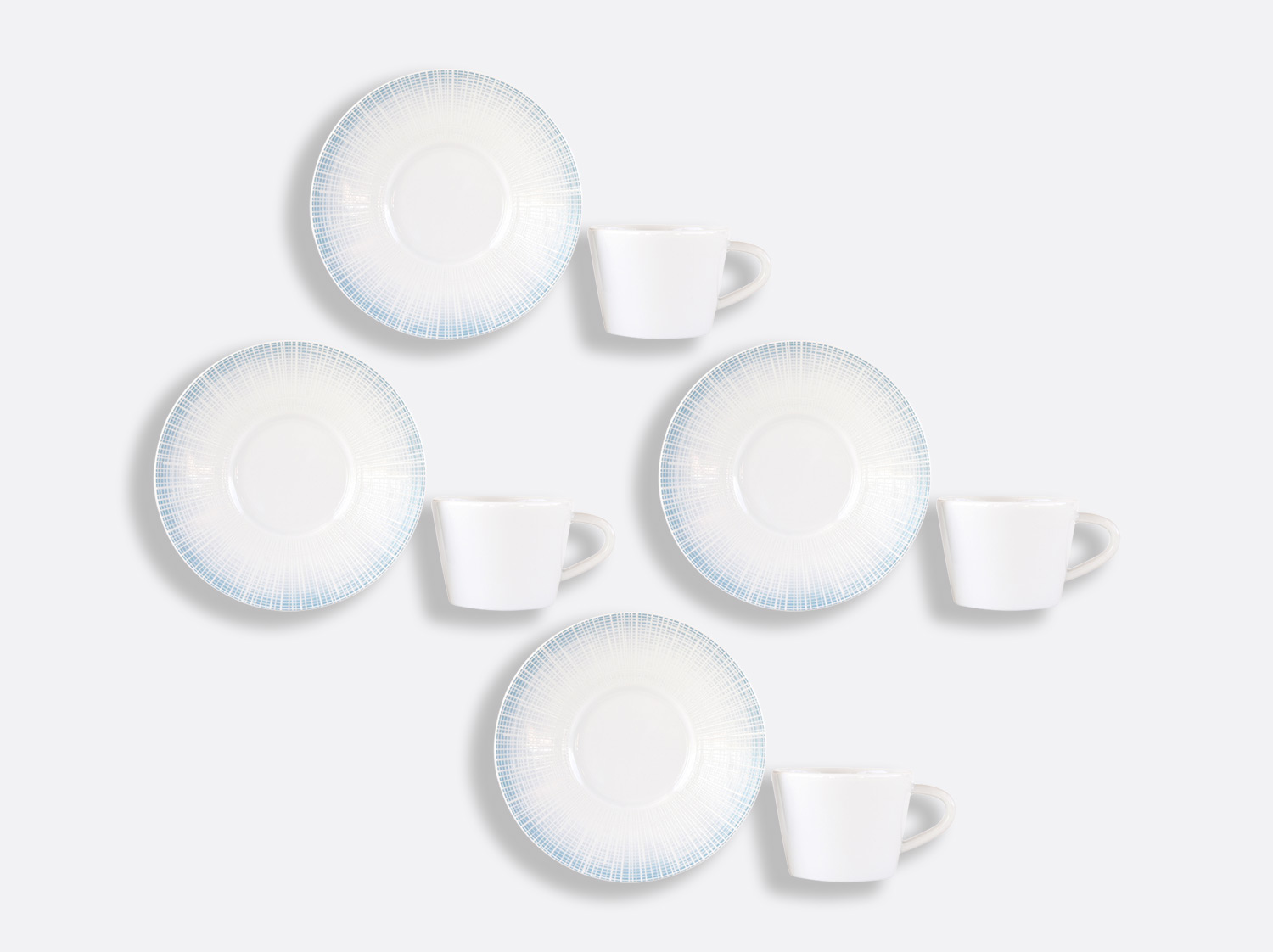 Coffret de tasses & soucoupes café 6 cl - Coffret de 4 en porcelaine de la collection Saphir Bleu Bernardaud