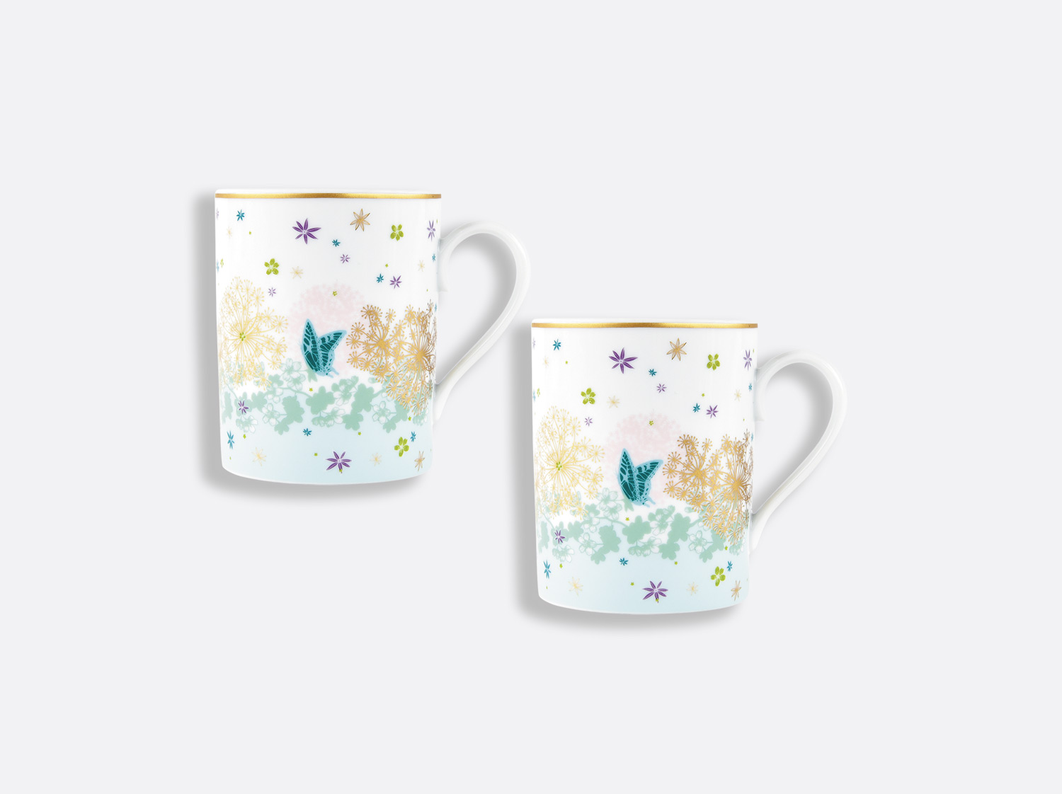 Mug 25 cl - Coffret de 2 en porcelaine de la collection FÉERIE - MICHAËL CAILLOUX Bernardaud