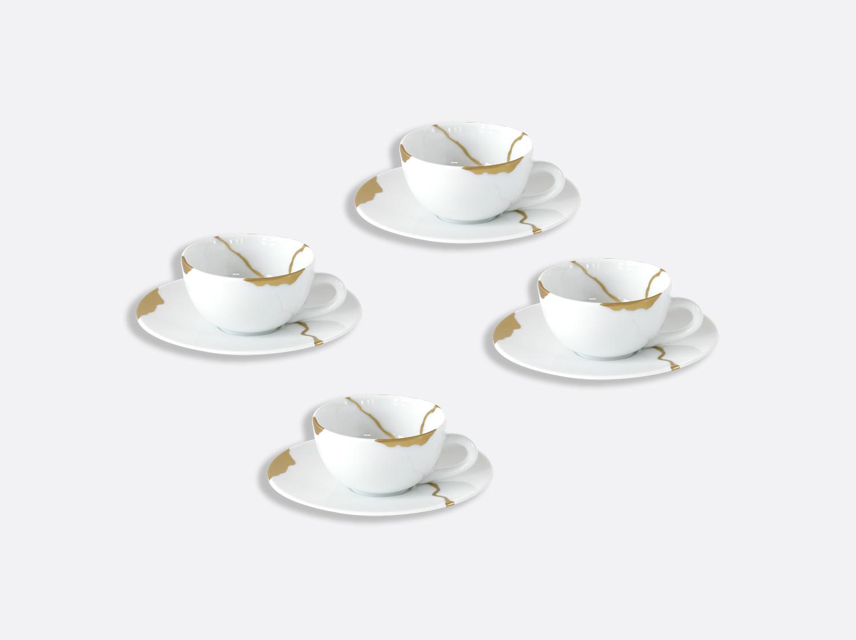 Coffret de tasses et soucoupes café 10 cl - Coffret de 4 en porcelaine de la collection Kintsugi Bernardaud