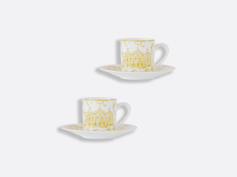Coffret de tasses et soucoupes café 8 cl - Coffret de 2 en porcelaine de la collection Tout Paris Bernardaud