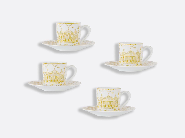 Coffret de tasses et soucoupes café 8 cl - Coffret de 4 en porcelaine de la collection Tout Paris Bernardaud